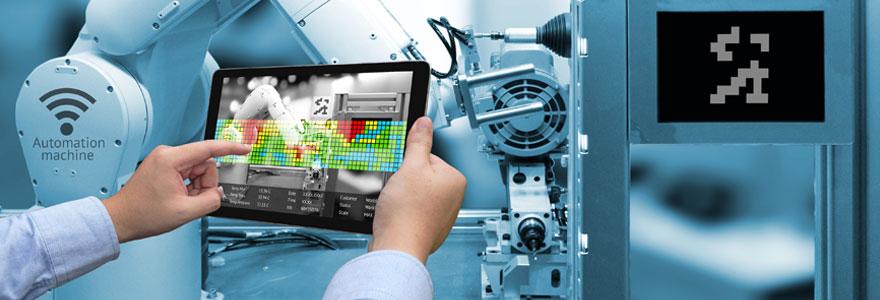Utilisation de tablette industrielle